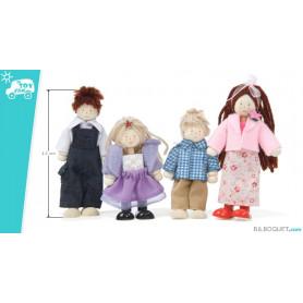 La famille de 4 poupées
