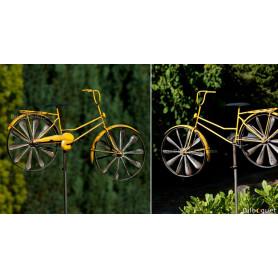 Éolienne métallique Bicyclette Jaune