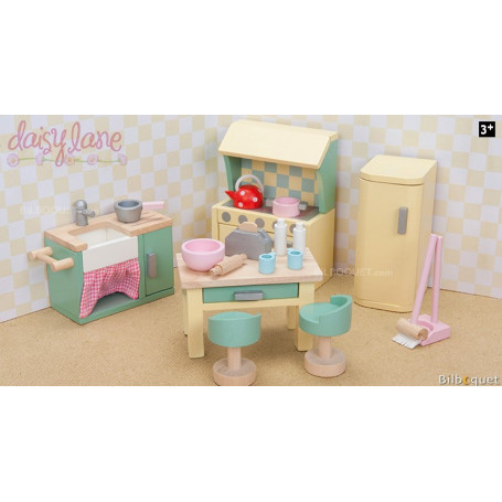 La cuisine de Daisylane - Meubles pour maisons de poupées