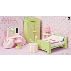 La chambre des parents de Daisylane - mobilier pour maison de poupées