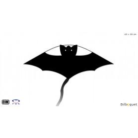 Chauve-souris Noire 63x30cm - Cerf-volant monofil enfant
