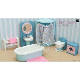 La salle de bain de Daisylane - Meubles pour maisons de poupées