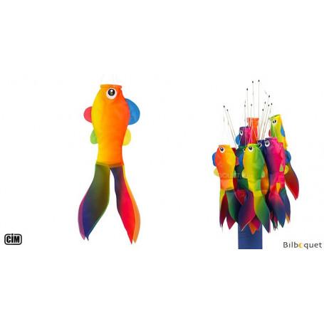 Manche à air poisson Arc-en-ciel sur bâton