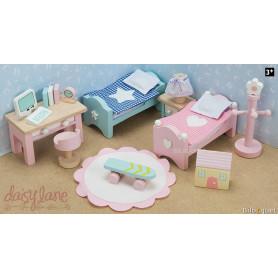 La chambre des enfants de Daisylane - Mobilier pour maison de poupées