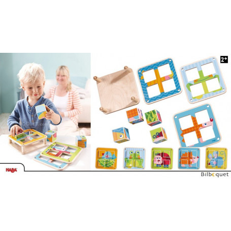 Cubes puzzle Les animaux du jardin