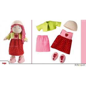 Ensemble de vêtements Fraise pour poupée Haba 30cm
