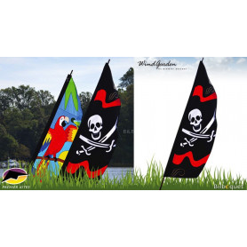 Bannière Pirate Jolly Roger - Feather Banner