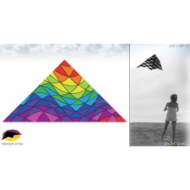 Delta 9 feet Rainbow Triangles 259x135cm