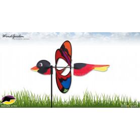 Éolienne de jardin Oiseau arc-en-ciel - Déco d'extérieur