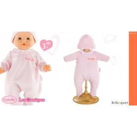 Pyjama rose pour poupée 36cm