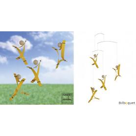 Esprit libre - Jaune - Mobile décoratif design