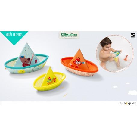 3 petits bateaux flottants - Jouets de bain