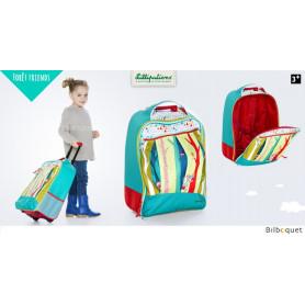 Trolley-Valise à roulettes enfant Forêt