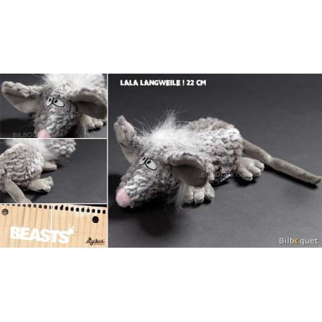 Souris Lala Langweile - Peluche loufoque 22cm
