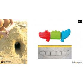 Moules à sable - Crocodile sans fin