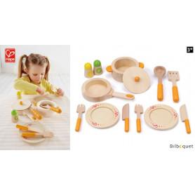 Set de chef de cuisine gastronomique - Jouets en bois