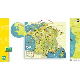 Carte des merveilles de France magnétique