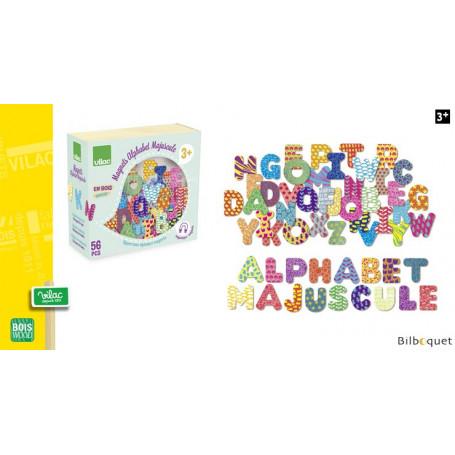 Magnets Alphabet lettres majuscules - 56 pièces