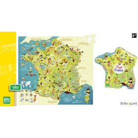 Puzzle Carte des merveilles de France (300 pièces)
