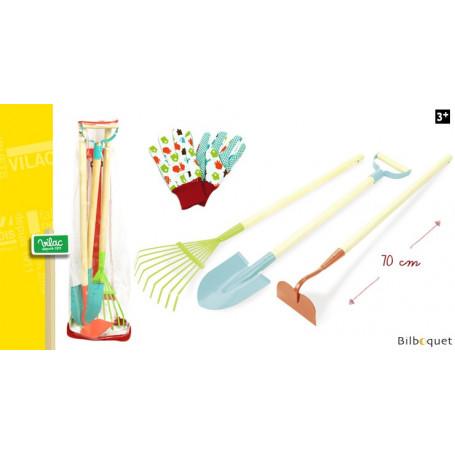 Mon grand set de jardinage - 3 outils et gants