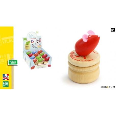 Boîte à dents de lait en bois - Souris rouge