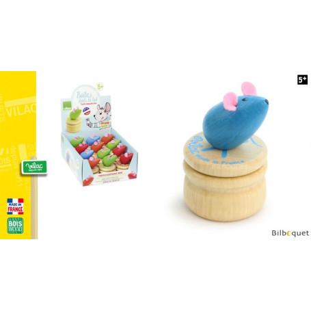 Boîte à dents de lait en bois - Souris bleue