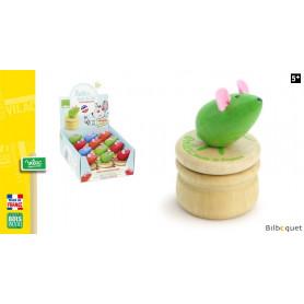 Boîte à dents de lait en bois - Souris verte