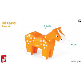 Funny Animal Kit Cheval - Puzzle en bois