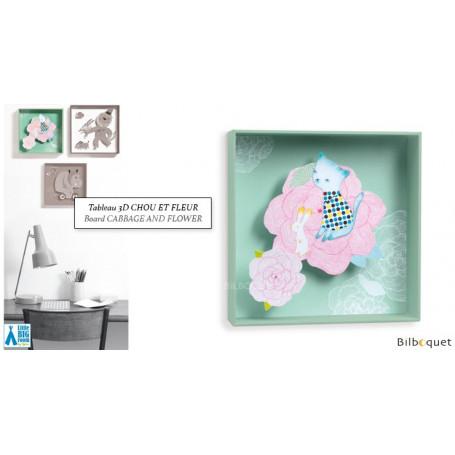 Chou et Fleur - Tableau pour chambre d'enfant