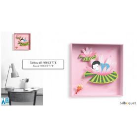 Poucette - Tableau pour chambre d'enfant