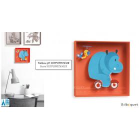 Hippopotame - Tableau pour chambre d'enfant