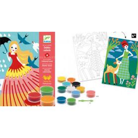 Sables colorés Belles en ballade Design by FlipFlopDesign