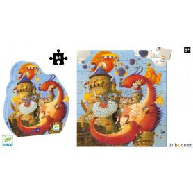 Vaillant et le dragon - Puzzle 54 pièces