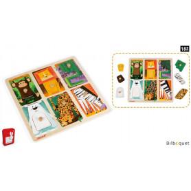 Puzzle Tactile Animaux du zoo (6 pièces)