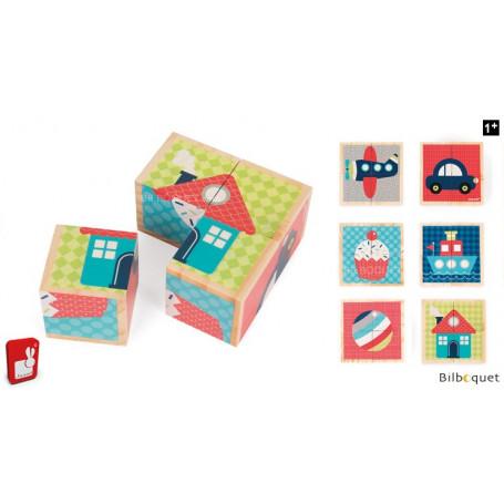 Mes premiers cubes en bois - Premiers mots