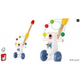 Ours jongleur à pousser - Jouet en bois Zigolos