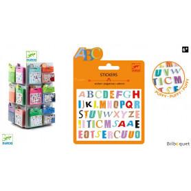 Mini pochette stickers - Lettres colorées