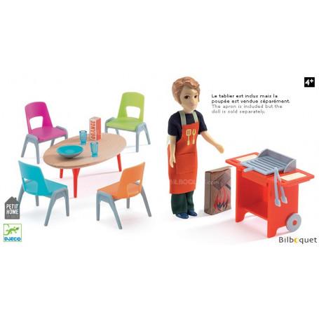 Barbecue et accessoires - Complément pour maison de poupées