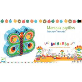 Maracas Papillon - Jouet musical