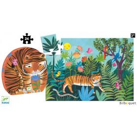 La Balade du tigre - Puzzle Silhouette 24 pièces