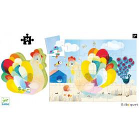 Raoul ma poule - Puzzle Silhouette 24 pièces