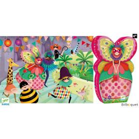 La demoiselle papillon - Puzzle Silhouette 36 pièces