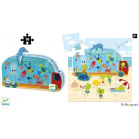 L'Aquarium - Puzzle Silhouette 16 pièces