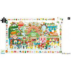 Puzzle Observation Crazy Park 35 pièces avec poster