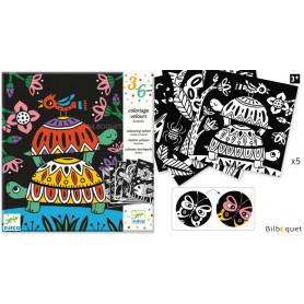 Coloriage velours - Bestioles - Loisirs créatifs pour enfants