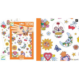 Tatouages éphémères pour enfants - Fête Mexicaine
