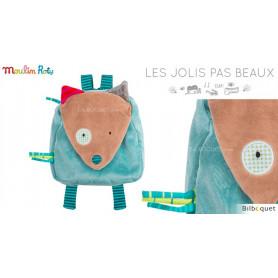 Petit sac à dos loup bleu - Les Jolis Pas Beaux