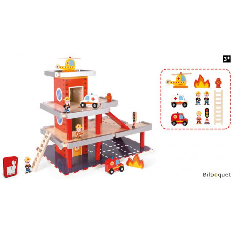 Caserne de pompiers - Jouet en bois
