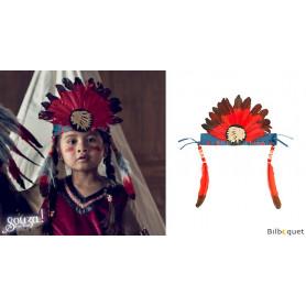 Coiffe d'indien Anoki - Accessoire déguisement enfant