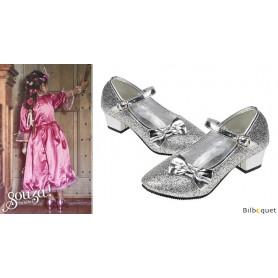 Chaussures pailletées à talon haut Aurora - Argent